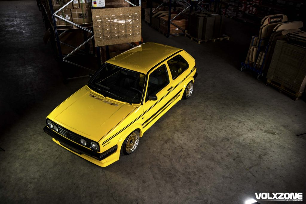 Yellow VW Golf