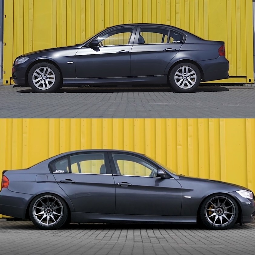 How to assemble a coilover suspension in BMW E90?