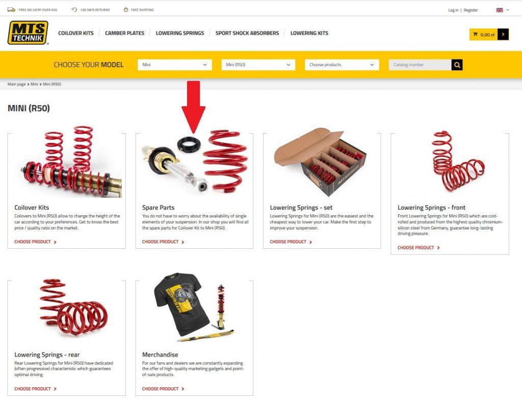 MTS Technik website
